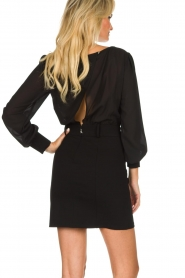 Patrizia Pepe |  Dress with open back Tanya | black  | Picture 5