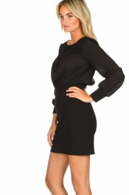 Patrizia Pepe |  Dress with open back Tanya | black  | Picture 4