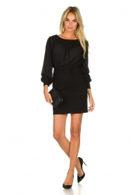 Patrizia Pepe |  Dress with open back Tanya | black  | Picture 3