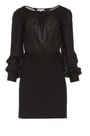 Patrizia Pepe |  Dress with open back Tanya | black  | Picture 1