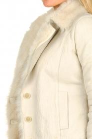 Patrizia Pepe | Leren lammy coat Gwendoline | naturel  | Afbeelding 7