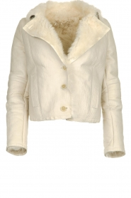 Patrizia Pepe |  Leather lammy coat Gwendonline | natural  | Picture 1