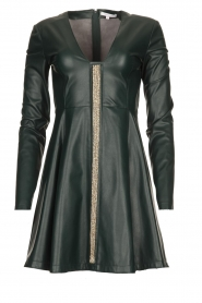 Patrizia Pepe | Faux leather dress Felicia | green  | Picture 1
