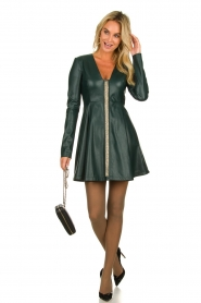 Patrizia Pepe | Faux leather dress Felicia | green  | Picture 3