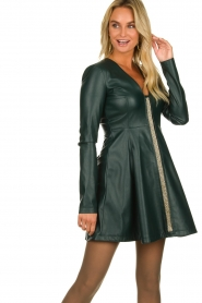 Patrizia Pepe | Faux leather dress Felicia | green  | Picture 2