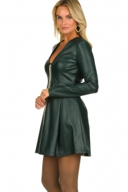 Patrizia Pepe | Faux leather dress Felicia | green  | Picture 5
