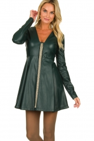 Patrizia Pepe | Faux leather dress Felicia | green  | Picture 4