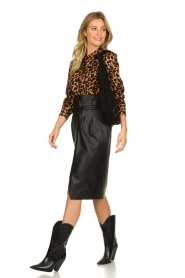 Patrizia Pepe |  Faux leather skirt Gonna | black  | Picture 3