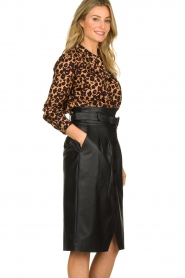 Patrizia Pepe |  Faux leather skirt Gonna | black  | Picture 4