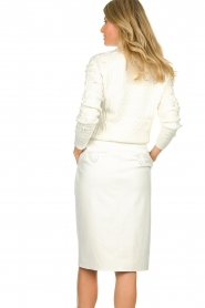 Patrizia Pepe |  Faux leather skirt Gonna | white  | Picture 5