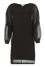 Patrizia Pepe |  Dress with puff sleeves Jazmin | black  | Picture 1
