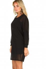Patrizia Pepe |  Dress with puff sleeves Jazmin | black  | Picture 5