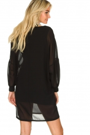 Patrizia Pepe |  Dress with puff sleeves Jazmin | black  | Picture 6