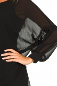 Patrizia Pepe |  Dress with puff sleeves Jazmin | black  | Picture 7