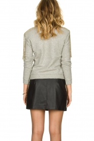 Patrizia Pepe |  Skirt with bead details Zara | black  | Picture 6