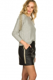 Patrizia Pepe |  Skirt with bead details Zara | black  | Picture 5