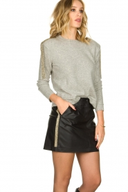 Patrizia Pepe |  Skirt with bead details Zara | black  | Picture 4