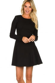 Patrizia Pepe |  Skater dress with stud details Nora | black  | Picture 2