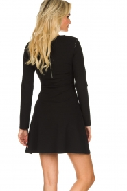 Patrizia Pepe |  Skater dress with stud details Nora | black  | Picture 5