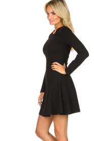 Patrizia Pepe |  Skater dress with stud details Nora | black  | Picture 4