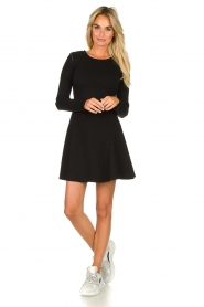 Patrizia Pepe |  Skater dress with stud details Nora | black  | Picture 3