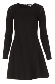Patrizia Pepe |  Skater dress with stud details Nora | black  | Picture 1