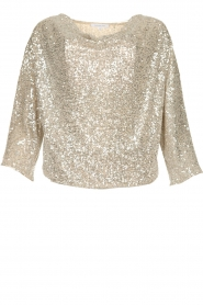 Patrizia Pepe |  Top with silver coloured sequins Amber | metallic  | Picture 1