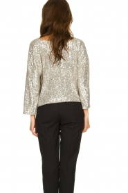 Patrizia Pepe |  Top with silver coloured sequins Amber | metallic  | Picture 5