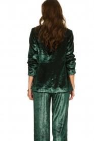 Patrizia Pepe |  Velvet blazer Manita | green  | Picture 5