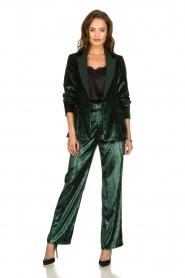 Patrizia Pepe |  Velvet blazer Manita | green  | Picture 3