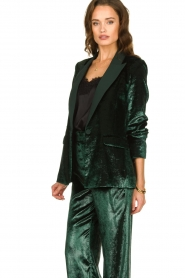 Patrizia Pepe |  Velvet blazer Manita | green  | Picture 4
