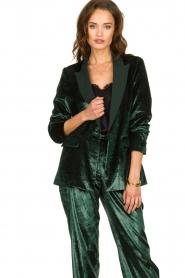Patrizia Pepe |  Velvet blazer Manita | green  | Picture 2