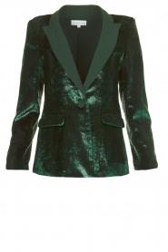 Patrizia Pepe |  Velvet blazer Manita | green  | Picture 1