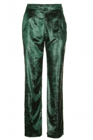 Patrizia Pepe |  Wide velvet pants Mara | green  | Picture 1
