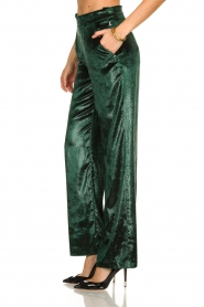 Patrizia Pepe |  Wide velvet pants Mara | green  | Picture 4