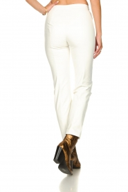 Patrizia Pepe |  Faux leather pants Mara | white  | Picture 5