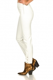 Patrizia Pepe |  Faux leather pants Mara | white  | Picture 2