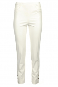 Patrizia Pepe |  Faux leather pants Mara | white  | Picture 1