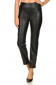 Patrizia Pepe |  Faux leather pants Mara | black  | Picture 2