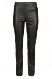 Patrizia Pepe |  Faux leather pants Mara | black  | Picture 1