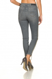 Patrizia Pepe |  Jeans with glitter Quinty | grey  | Picture 6