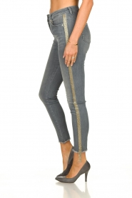 Patrizia Pepe |  Jeans with glitter Quinty | grey  | Picture 5
