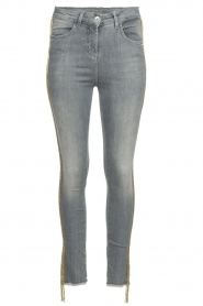 Patrizia Pepe |  Jeans with glitter Quinty | grey  | Picture 1