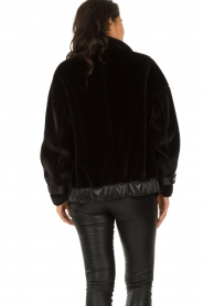 Patrizia Pepe |  Reversible faux lammy coat Nicole | black  | Picture 9