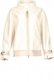 Patrizia Pepe |  Reversible faux lammy coat Nicole | natural  | Picture 1