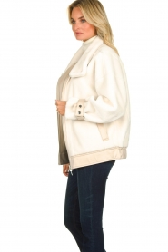 Patrizia Pepe |  Reversible faux lammy coat Nicole | natural  | Picture 4