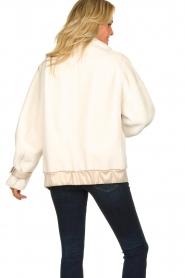 Patrizia Pepe |  Reversible faux lammy coat Nicole | natural  | Picture 5