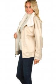 Patrizia Pepe |  Reversible faux lammy coat Nicole | natural  | Picture 7