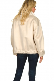 Patrizia Pepe |  Reversible faux lammy coat Nicole | natural  | Picture 8
