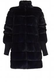 Patrizia Pepe |  Faux fur coat Jeanette | blue  | Picture 1